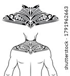 maori tribal style tattoo... | Shutterstock .eps vector #1791962663