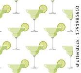 margarita cocktail seamless... | Shutterstock .eps vector #1791985610