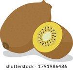 illustration of a fresh gold...   Shutterstock .eps vector #1791986486