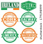 set of grunge rubber stamps...   Shutterstock .eps vector #179198999