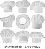 collection of chef hat isolated ... | Shutterstock . vector #179199029