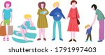 vector clipart with pregnant...   Shutterstock .eps vector #1791997403