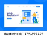 mobile development landing page ...