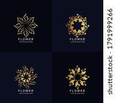 abstract golden flower or...   Shutterstock .eps vector #1791999266
