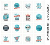 collection of 16 vintage thank... | Shutterstock .eps vector #179200250