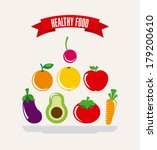 healthy food over white ... | Shutterstock .eps vector #179200610