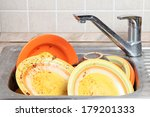 dish in sink | Shutterstock . vector #179201333