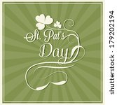happy st. patrick's day card | Shutterstock .eps vector #179202194