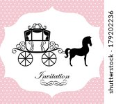 horse design over dotted... | Shutterstock .eps vector #179202236