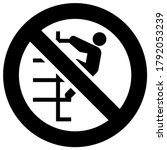 do not walk down stairs or no...   Shutterstock .eps vector #1792053239