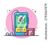 music player on smartphone...