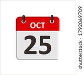 october 25 calendar icon....   Shutterstock .eps vector #1792069709