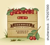 Retro Crate Of Cherries....