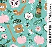 seamless pattern background for ... | Shutterstock .eps vector #1792077026