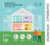 senior fall prevention and safe ... | Shutterstock .eps vector #1792081943