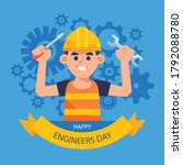 15 september happy engineer's... | Shutterstock .eps vector #1792088780