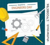 15 september happy engineer's... | Shutterstock .eps vector #1792088786