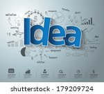 idea text  with creative... | Shutterstock .eps vector #179209724