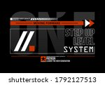 one step up level modern and... | Shutterstock .eps vector #1792127513
