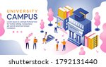 university campus in an... | Shutterstock .eps vector #1792131440