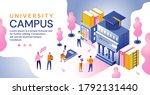 university campus in an... | Shutterstock .eps vector #1792131440