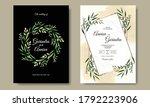elegant wedding invitation card ... | Shutterstock .eps vector #1792223906