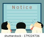 businesspeople crowd around and ... | Shutterstock .eps vector #179224736