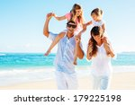 happy family having fun on the... | Shutterstock . vector #179225198