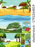 six different scenes in nature...   Shutterstock .eps vector #1792264819