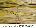 Thatch Roof Background  Hay Or...