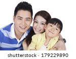 portrait of a family of three  | Shutterstock . vector #179229890