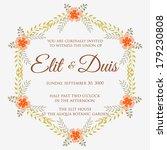 wedding invitation | Shutterstock .eps vector #179230808