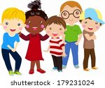 group of children | Shutterstock .eps vector #179231024