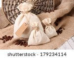 sacks with coffee beans on... | Shutterstock . vector #179234114