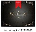welcome lettering design | Shutterstock .eps vector #179237000
