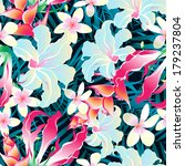 seamless pattern of tropical... | Shutterstock .eps vector #179237804