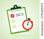 checklist. fast service icon....   Shutterstock .eps vector #1792405573