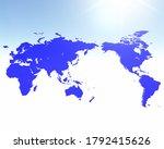three dimensional world map 3d... | Shutterstock . vector #1792415626