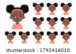 set of african american girl...   Shutterstock .eps vector #1792416010