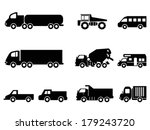 truck icons set | Shutterstock .eps vector #179243720
