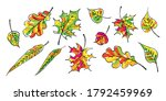 set of different colorful... | Shutterstock .eps vector #1792459969
