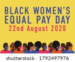 black women's equal pay day... | Shutterstock .eps vector #1792497976