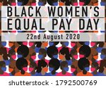 black women's equal pay day... | Shutterstock .eps vector #1792500769