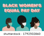 black women's equal pay day... | Shutterstock .eps vector #1792502860