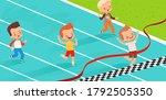 children in athletics... | Shutterstock .eps vector #1792505350