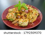 Spicy Salad With Shrimp. The...