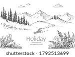 vector illustration of nature.... | Shutterstock .eps vector #1792513699
