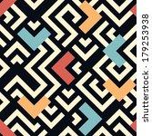 seamless raster geometric...   Shutterstock . vector #179253938