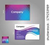 vector branded business cards... | Shutterstock .eps vector #179253989