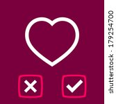 bright poll of a heart | Shutterstock .eps vector #179254700
